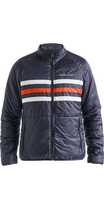 2020 Henri Lloyd Mens Fremantle Stripe Liner Jacket Navy Blue P191101005