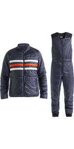 2019 Henri Lloyd Mens Fremantle Stripe Liner Jacket & Salopette Combi Set - Navy