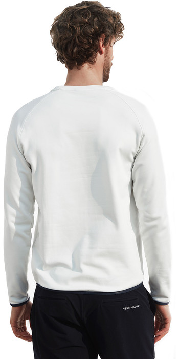 2020 Henri Lloyd Mens Fremantle Stripe Crew Sweat Cloud White P191104011