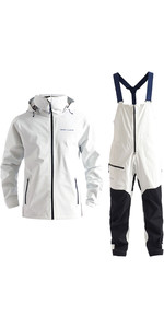 2020 Henri Lloyd Mens M-Course 2.5 Layer Inshore Jacket & Trouser Combi Set - White
