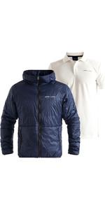 2020 Henri Lloyd Mens Mav Hooded Liner Jacket & Mav Tech Polo Bundle - Navy / Cloud White