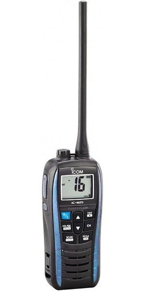 2019 ICOM M25 Waterproof Handheld VHF Radio Blue VHF0161