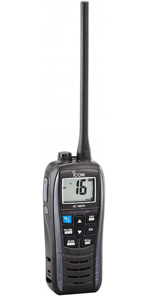 2019 ICOM M25 Waterproof Handheld VHF Radio Grey VHF0160