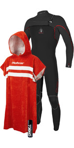 O'Neill Mens Jack O'Neill Legend 4.5/3mm GBS Chest Zip Wetsuit + Wetsuit Shampoo & Northcore Beach Basha Changing Robe