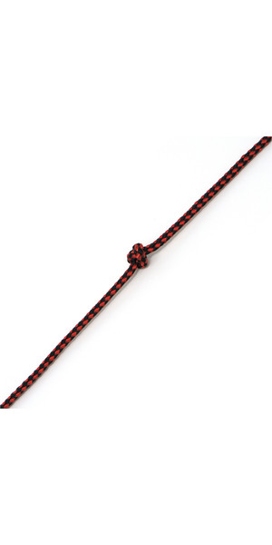 Kingfisher Evolution 8 Plait Pre-Stretched Dinghy Rope Red / Black PS0X2 - Price per metre.