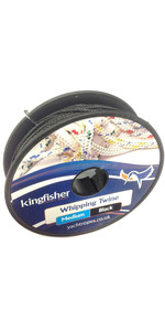 Kingfisher Twisted Whipping Twine Black WTXB