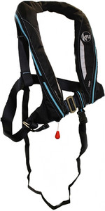 2020 Kru Sport 170N ADV Auto Lifejacket with Harness, Hood & Light Carbon LIF7353