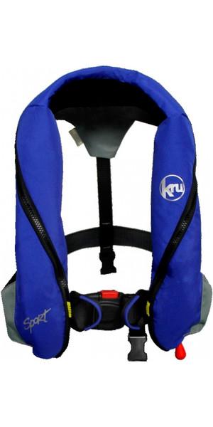 Kru Sport 185N Automatic Lifejacket With Harness - Blue / Grey LIF7223