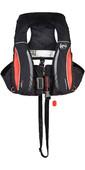 2020 Kru Sport Pro 170N ADV Automatic Lifejacket With Harness, Hood & Light Carbon / Red LIF7311