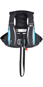 2019 Kru Sport Pro 170N ADV Automatic Lifejacket With Harness, Hood & Light Carbon / Sky Blue LIF7313