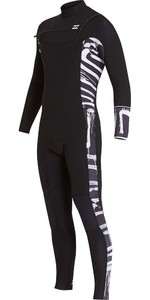 Billabong Furnace Revolution 3/2mm Chest Zip Wetsuit Black Print L43M06