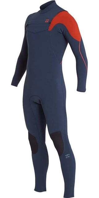 2018 Billabong Furnace Carbon Comp 3/2mm Chest Zip Wetsuit Slate L43m26 Picture
