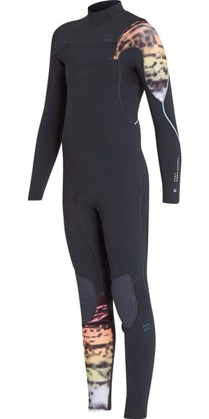 2019 Billabong Junior Furnace Carbon 3/2mm Chest Zip Wetsuit Graphite L43B03