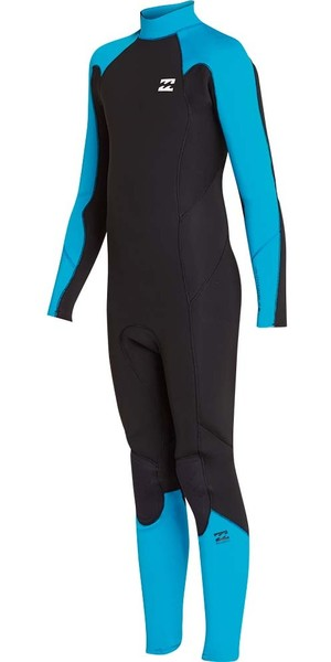 2018 Billabong Junior Furnace Absolute 4/3mm Back Zip Wetsuit Blue Lagoon L44B06