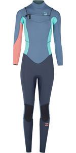 Billabong Junior Girls Furnace Synergy 5/4mm Chest Zip Wetsuit Slate L45B01