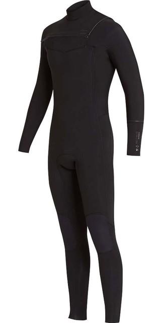 2018 Billabong Furnace Revolution 4/3mm Chest Zip Wetsuit Black L44m06 Picture