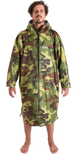 2018 Dryrobe Advance - Long Sleeve Premium Outdoor Change Robe DR104 - L Camo / Grey