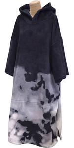 2020 TLS Hooded Poncho / Change Robe Poncho7 - Black Tie Dye