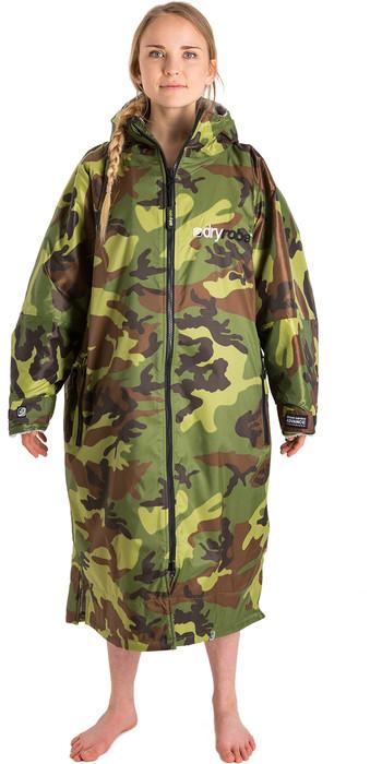 2021 Dryrobe Advance Long Sleeve Premium Outdoor Change Robe / Poncho DR104 - Camo / Grey