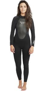 2019 Billabong Womens Launch 3/2mm GBS Wetsuit BLACK 043G01