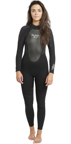 2019 Billabong Womens Launch 3/2mm Flatlock Wetsuit BLACK S43G03