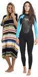 2018 Billabong Ladies Launch Wetsuit 5/4/3mm Turquoise & Salty Hooded Towel Bundle Offer