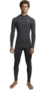 2020 Billabong Mens Furnace Absolute 5/4mm Chest Zip Wetsuit Black Sand Q45M09
