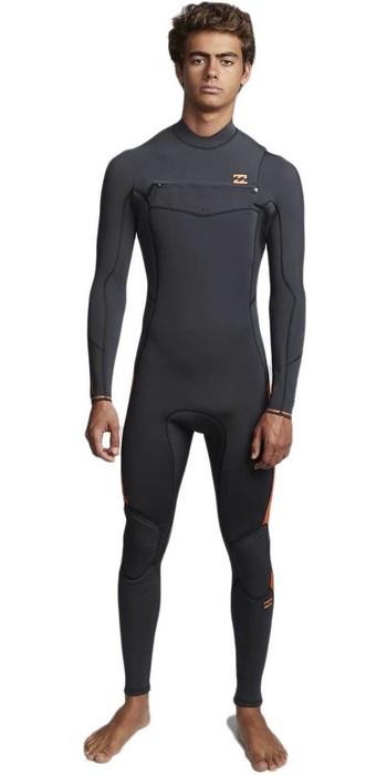 2020 Billabong Mens Furnace Absolute 5/4mm Chest Zip Wetsuit Black Sand Q45M09