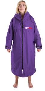 2019 Dryrobe Advance Long Sleeve Premium Outdoor Change Robe DR104 Purple / Grey
