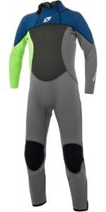 2021 Magic Marine Junior Brand 3/2mm Back Zip Wetsuit 180025 - Lime