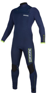 2019 Mystic Mens Marshall 4/3mm Chest Zip Wetsuit 200008 - Navy / Lime