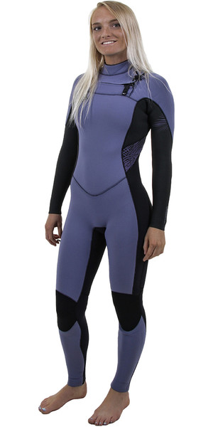 2018 O'Neill Womens Hyperfreak 3/2mm Chest Zip GBS Wetsuit Mist / BLACK 5074