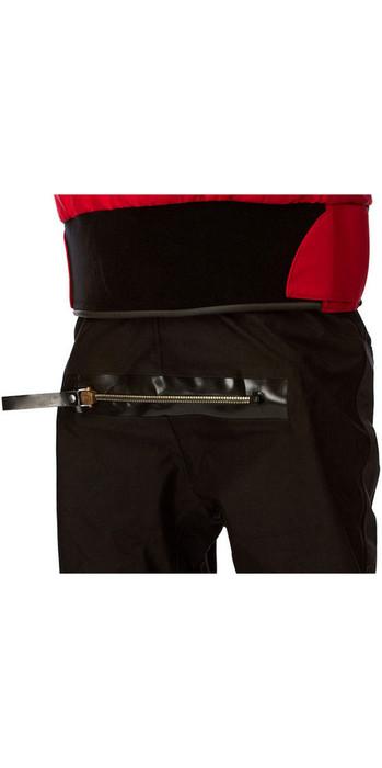 2020 Typhoon Multisport 4 Four Drysuit Including Con Zip & Underfleece Red / Black 100140