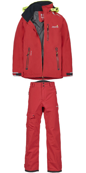 Musto Solent Gore-tex Jacket SL0090 & Trouser SL0100 Combi-Set TRUE RED