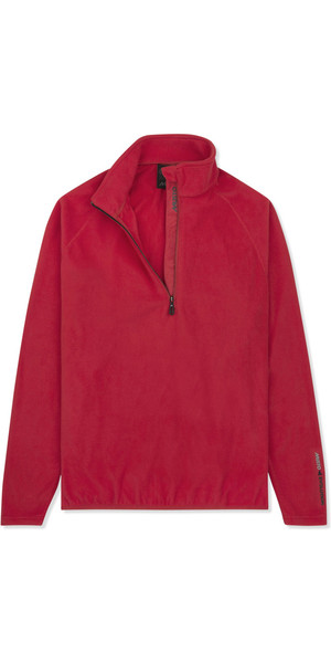 2019 Musto Mens Crew 1/2 Zip Microfleece Red EMFL028