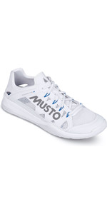 2019 Musto Dynamic Pro II Sailing Shoe Triple White Reflective FUFT006