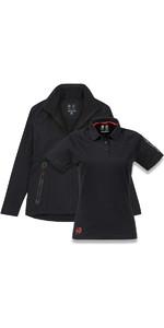 Musto Womens Essential Crew BR1 Jacket BLACK EWJK058 & Evolution Sunblock Polo Top