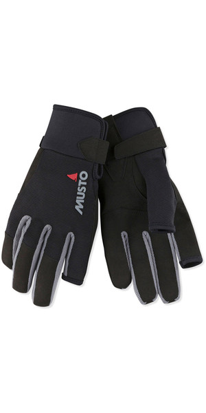 2019 Musto Essential Sailing Long Finger Gloves Black AUGL002
