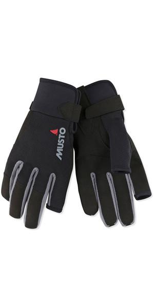 2018 Musto Essential Sailing Long Finger Gloves Black AUGL002