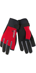 2019 Musto Essential Sailing Long Finger Gloves Red AUGL002