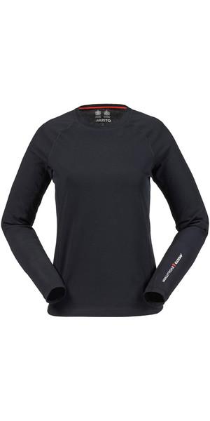 Musto Evolution Ladies Sunblock Long Sleeve Tee BLACK SE0873