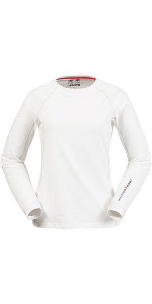 Musto Evolution Womens Sunblock Long Sleeve Tee WHITE SE0873