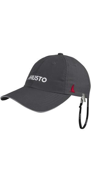 2018 Musto Fast Dry Crew Cap Charcoal AL1390