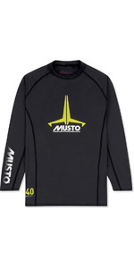 2021 Musto Junior Insignia UV Fast Dry LS T-Shirt Black SKTS012