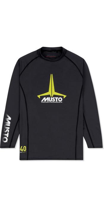 2021 Musto Junior Insignia UV Fast Dry LS T-Shirt Black SKTS012