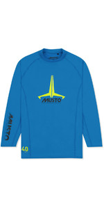 2021 Musto Junior Insignia UV Fast Dry LS T-Shirt Brilliant Blue SKTS012