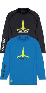 Musto Junior Insignia UV Fast Dry LS T-Shirt Twin Pack Brilliant Blue & Black