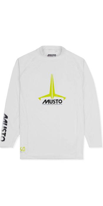 2021 Musto Junior Insignia UV Fast Dry LS T-Shirt White SKTS012