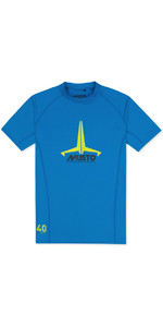 2021 Musto Junior Insignia UV Fast Dry SS T-Shirt Brilliant Blue SKTS011