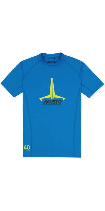 2020 Musto Junior Insignia UV Fast Dry SS T-Shirt Brilliant Blue SKTS011